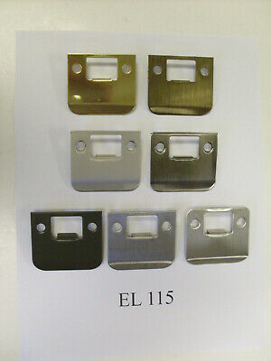 """Don-Jo EL115 with 2"""" overall length RADIUS & SQUARE extended lip strike plates"""