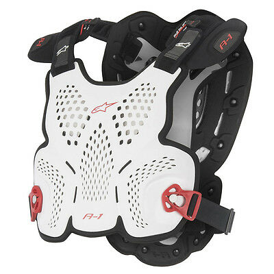 2016 Alpinestars A1 Roost Guard MX Motocross Chest Protector - White / Black