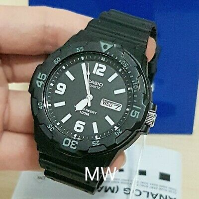 Casio Quartz Analog MRW-200H-1B2 Men's Teens Rubber Sports Watch MRW200 MRW200H