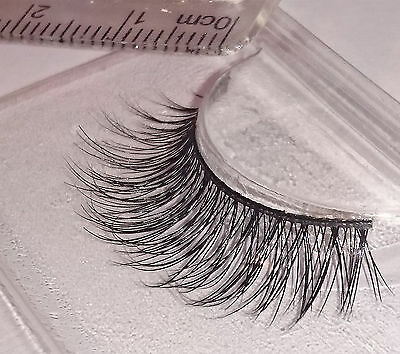 100% 3D Mink Lilly Hand Soft False Lashes Flutter Individual Extension SALE MN