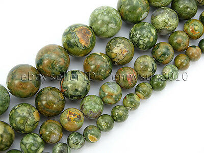 Natural Rhyolite Kambaba Jasper Gemstone Round Beads 15.5'' 6mm 8mm 10mm 12mm