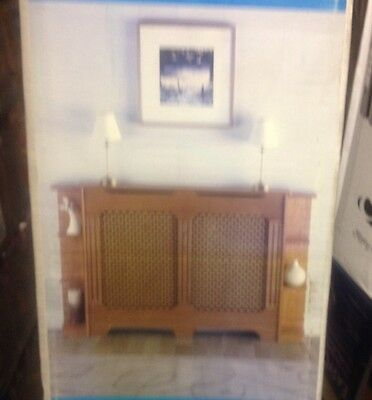 One Pair of End Shelves For Radiator Cabinet MDF Classic Oak- WINTHER BROWNE