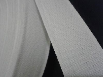 25mm Wide White Cotton Webbing Tape x 50 metres sewing bunting arts & craft