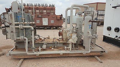 Energy Industries Natural Gas Compressor Skid, Cooler, & Vessels - No Motor