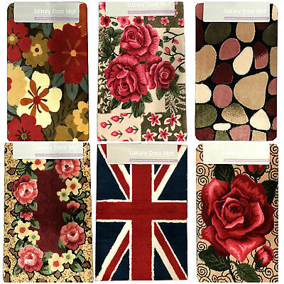 Door mat rug floral printed non slip kitchen indoor bath mat new luxury