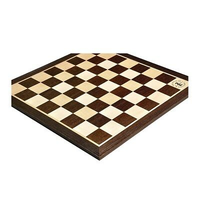 """Smoked Oak & Maple Wooden Chess Board - 2.25"""" With Logo"""