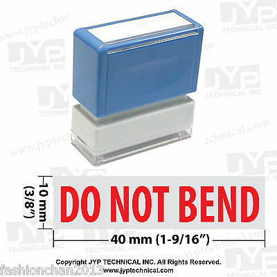 "JYP PA1040 Rectangle Stock Pre-Inked Rubber Stamp with ""Do Not Bend"""