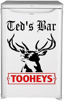 Tooheys  Bar Fridge Vinyl Cut Sticker Decal With Your Name