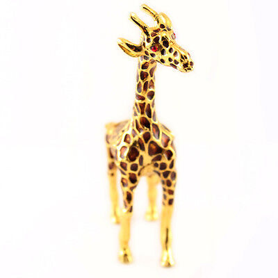 Giraffe Jewelry Trinket Box Decorative Collectible Enamel Animal Cute Gift 02009