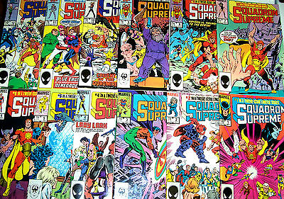 SQUADRON SUPREME #1-12 Full Set! (NM) High Grade! Mark Gruenwald! Bob Hall! 1985
