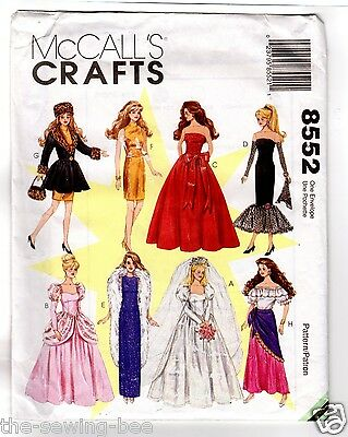 BARBIE McCall Doll Pattern 8552 Gown Collections