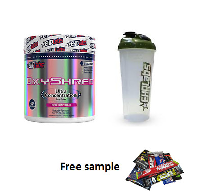 Ehplabs Oxyshred Thermogenic Fat Burning & Maxs Shred System Shake N Go Protein.