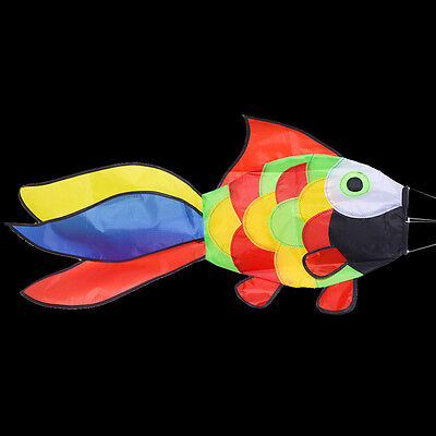 1pc Fish Shape Windsock Kite Tail Accessories Child Kid Outdoor Toy 80cm Random