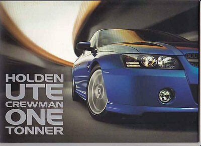 2005 HOLDEN VZ COMMODORE UTE, CREWMAN & ONE TONNER 28 Page Prestige Brochure