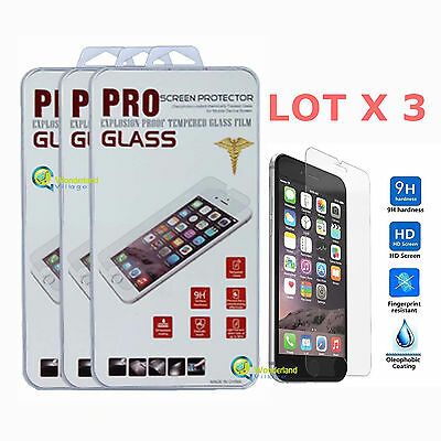 3x Wholesale Lot Tempered Glass Film Screen Protector For Apple iPhone 6s Plus