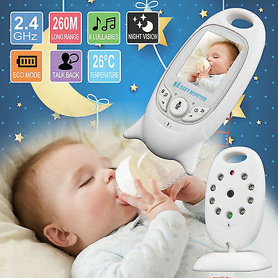 "Wireless 2.4GHz Digital 2.0"" Color Baby Monitor Two-way IR Night Vision Camera"