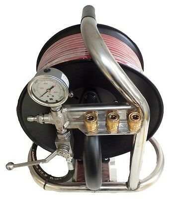 Jetter mini reel with 60 mtr 1/4 hose/sewer hose/jetter drain cleaner/pressure