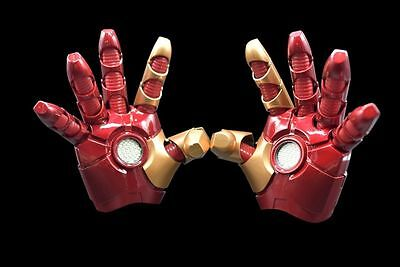 Iron Man Captain America 3 Handschuhe Gloves Leucht Sound cosplay Kostüme 1:1