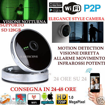Telecamera Ip Camera Hd 720P Wireless Led Ir Lan Infrarossi Wifi Notturna