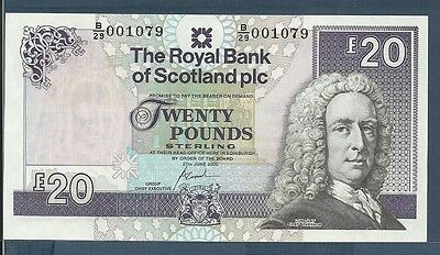 Scotland, The Royal Bank of Scotland 20 Pounds, 2000, P 354d, UNC