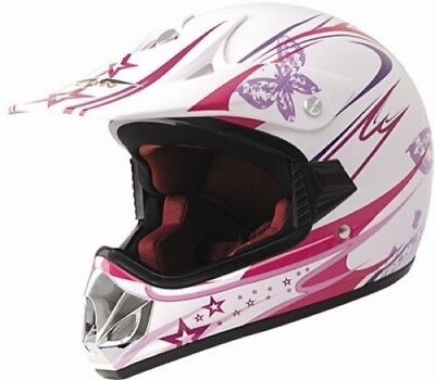 Kinder Crosshelm Enduro Girl pink