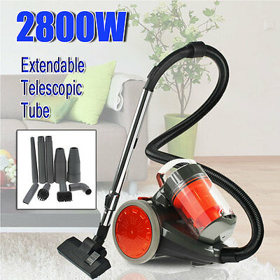 2800W Bagless Cyclone Cyclonic Vacuum Cleaner Filtration System Nozzle Cleaners