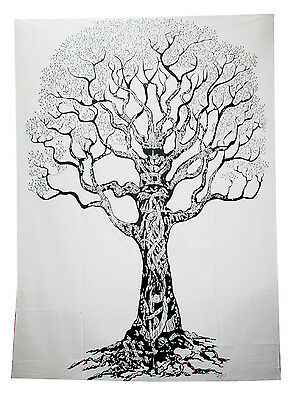 Hippie Twin Forest Tree Tapestry Indian Wall Hanging Bedspread Dorm Decor Throw
