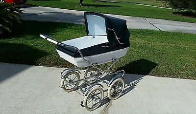 Vintage Peg Perego Pram Stroller Carriage Baby Buggy - Excellent Condit. Antique