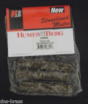 Genuine Humes & Berg Replacement Corks For Basstrombone Straight/cup Mute(Cork3)
