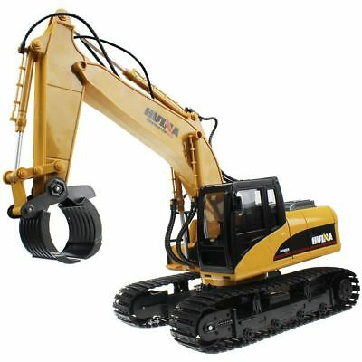 16 Channel 2.4G Full-Function Remote Control RC Alloy Timber Grab Excavator