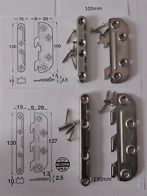 Knock Down Bed Fitting Brackets includes screws - Easy to Fit 2 Sizes Available