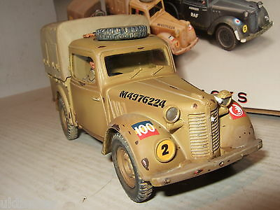 """Rare King and Country EA056 Austin Light Utility """"Tilly"""" 8th Army Version & Dvr"""