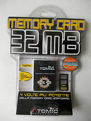 Memory card 32 MB per console PS2 Playstation 2