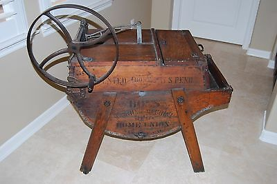 Antique The Boss Washing Machine Co. Number 1 Wooden Washing Machine