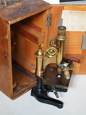 Rarity ++++ Leitz (Leica) vintage brass microscope, dated 1914 (over 100 years)