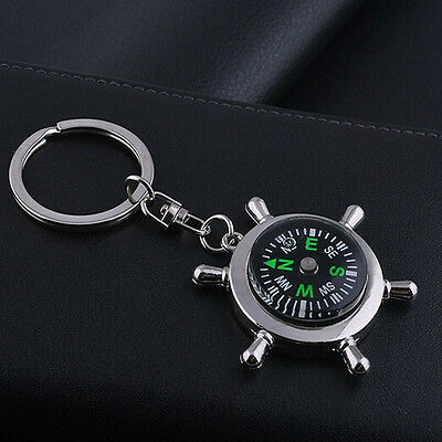 Unisex Fashion Compass Metal Car Keyring Keychain Key Chain Rings Keyfob