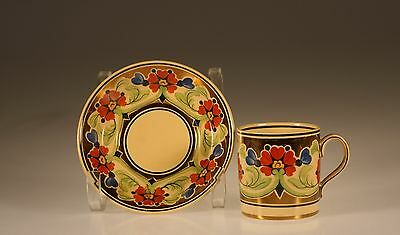 Wedgwood Art Deco Gold Lustre  Demitasse Cup and Saucer, WWCM5354,