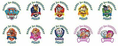 60 Paw Patrol Birthday Stickers Lollipop Labels Party Favors 1.5 in ANY VARIETY