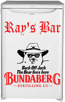 Bundaberg  Bar Fridge Vinyl Cut Sticker Decal With Your Name