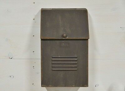 Cottage Mailbox, Vintage Inspired, Rustic, Distressed Brown, Farmhouse Post Box