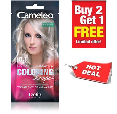 NEW SILVER BLOND Colouring Shampoo with HYDRO COMPLEX 0% AMMONIA 4-6 washes 40ml