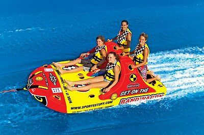 Inflatable Towable SPORTSSTUFF BANDWAGON Beach Sea Game Water Skiing Sport NEW