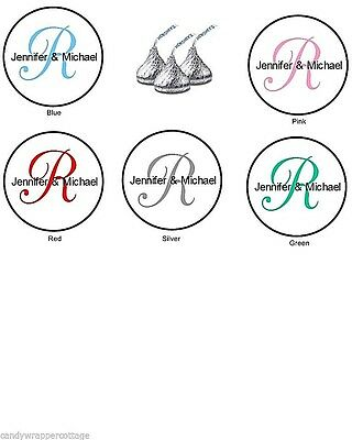 216 Monogram Wedding Anniversary Hershey Kisses Kiss Labels Personalized Favors