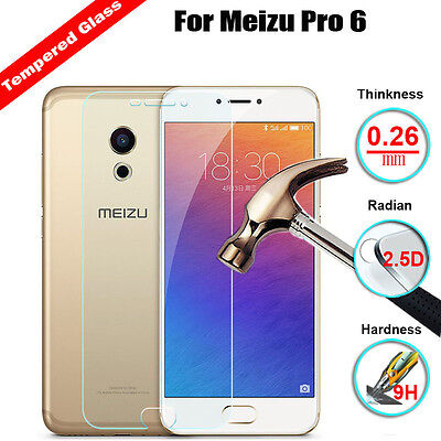9H Premium Real Tempered Glass Screen Protector Film Cover For Meizu Pro 6