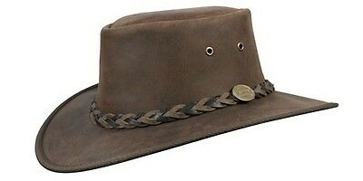 Barmah Squashy Bronco Cowhide Leather Hat
