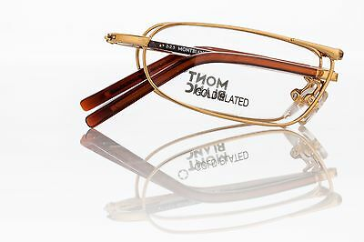MONT BLANC Folding Reading Glasses Model: MB198 Gold Plated