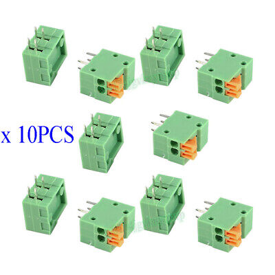 10Pcs KF141R-2P 2 Pin 2.54mm Pitch PCB Connector Spring Screless Terminal Block