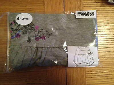 Brand New Moxie Girlz Grey Frill Skirt 4-5 Years