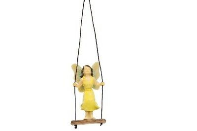 Miniature Dollhouse FAIRY GARDEN - Standing Swing Fairy - Accessories