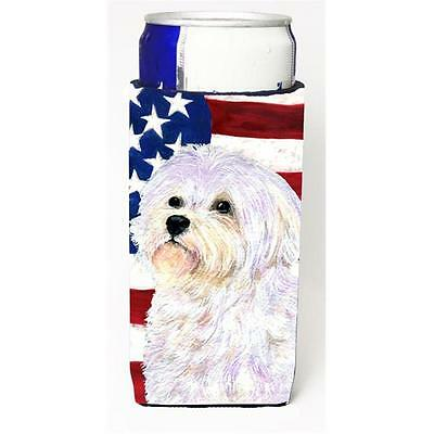 Usa American Flag With Maltese Michelob Ultra bottle sleeves For Slim Cans 12...